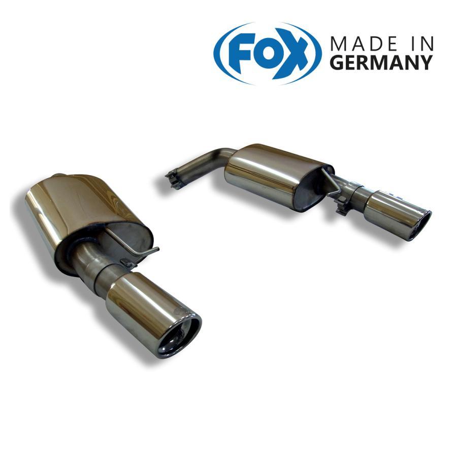 FOX フォックス オールステンレスマフラー(リアマフラー) BMW E90/E91/E92/E93 335i用 90mm 斜め 左右 alpha-online-shop