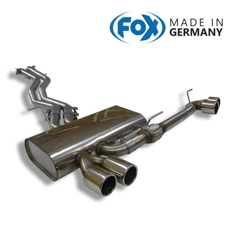 FOX フォックス オールステンレスマフラー(リアマフラー) BMW E85 Z4 2.5i/3.0i/3.0si用 80mm ダブル 左右|alpha-online-shop