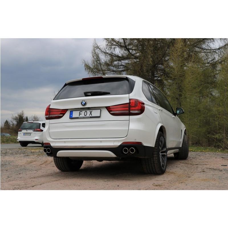 FOX フォックス オールステンレスマフラー(リアマフラー) BMW F15 X5 xDrive50i用 80mm 斜め ダブル 左右|alpha-online-shop|04