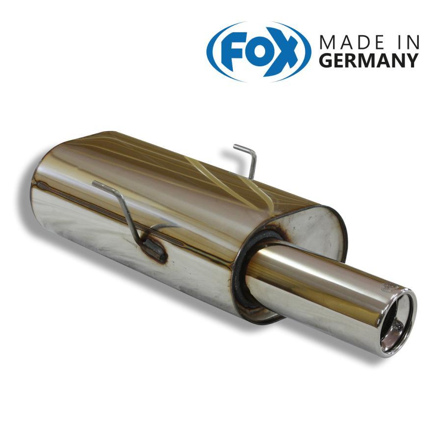 FOX フォックス オールステンレスマフラー(リアマフラー) CITROEN Saxo / サクソ 1.6 VTS用 90mm|alpha-online-shop