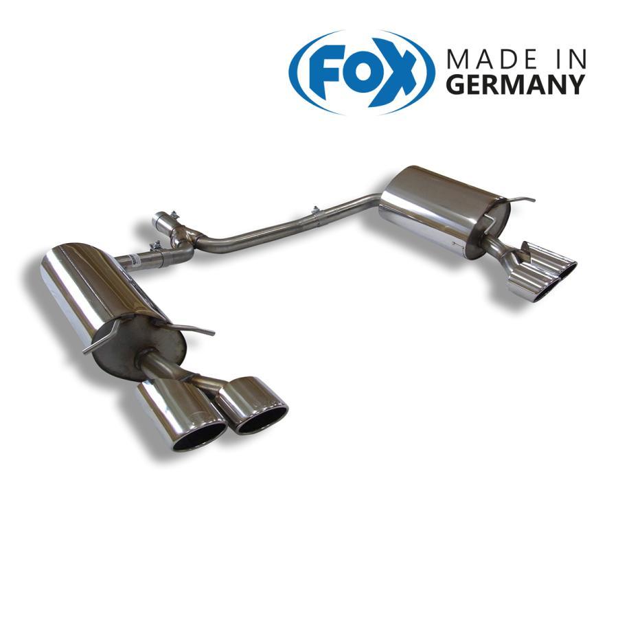 FOX フォックス オールステンレスマフラー(リアマフラー) MERCEDES BENZ W204 セダン/S204 ワゴン (4気筒) C180-C250用 115x85mm オーバル 斜め ダブル 左右