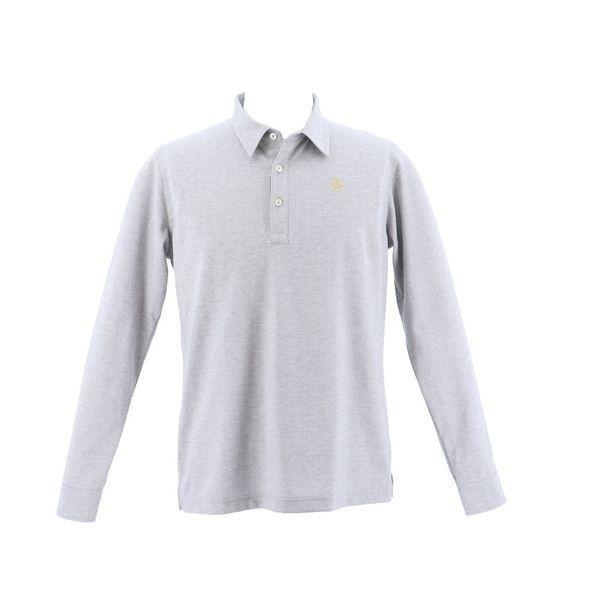 マンシングウェア メンズ ゴルフウェア 長袖シャツ(ニット) MGMMGB01 GY00 グレー Munsingwear 秋冬 18fwct