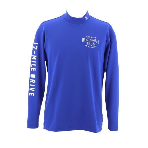 マンシングウェア MUNSINGWEAR ゴルフ 秋冬 メンズ 長袖シャツ(ニット) MGMMJB09 BL00 ブルー 18fwct