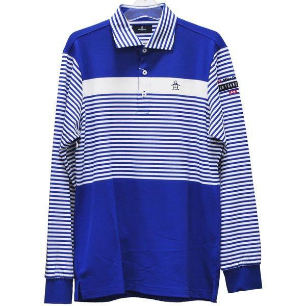 マンシングウェア MUNSINGWEAR ゴルフ 秋冬 メンズ 長袖シャツ(ニット) MGMMJB10 BL00 ブルー 18fwct