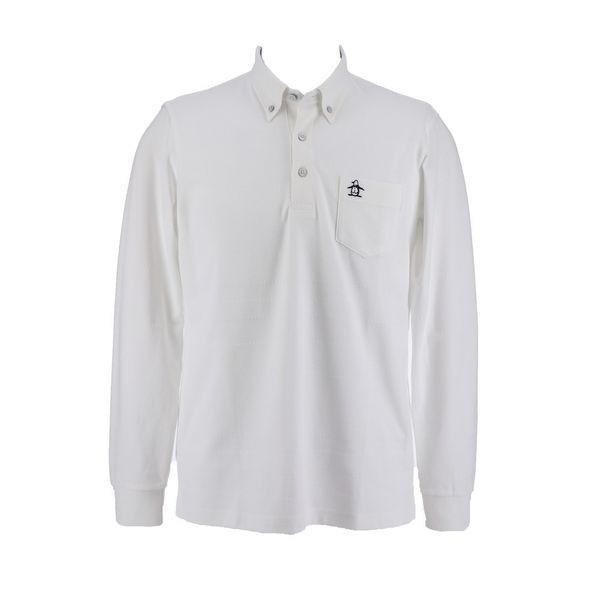 マンシングウェア MUNSINGWEAR ゴルフ 秋冬 メンズ 長袖シャツ(ニット) MGMMJB12 WH00 ホワイト 18fwct