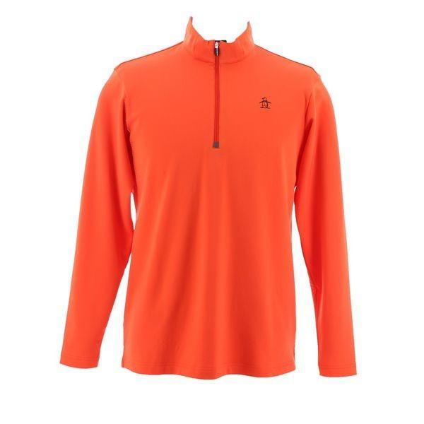 マンシングウェア メンズ ゴルフウェア 長袖シャツ(ニット) MGMMJB22 OR00 オレンジ Munsingwear 秋冬 18fwct