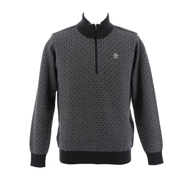 マンシングウェア MUNSINGWEAR ゴルフ 秋冬 メンズ セーター/カーディガン MGMMJL06 GY02 チャコール 18fwct