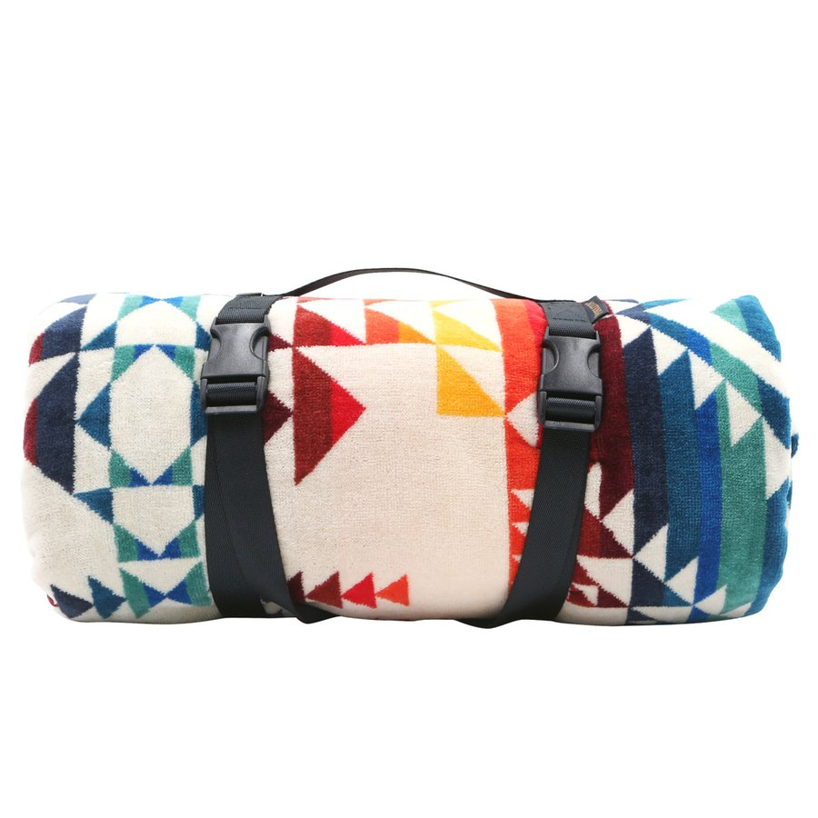 ペンドルトン PENDLETON タオル フォー トゥー ブランケット Towels For Two Pilot Rock Ivory マルチカラー 157cm×177cm XB242 53912|alterego