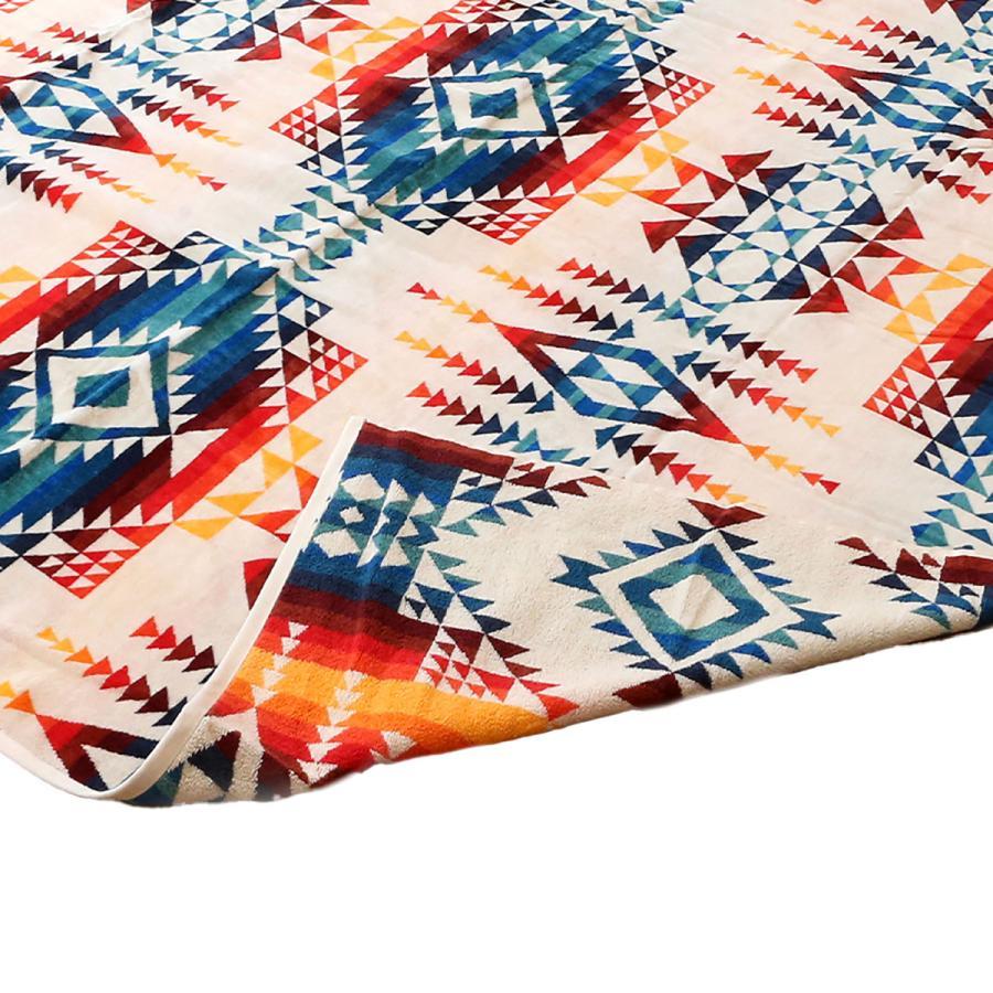 ペンドルトン PENDLETON タオル フォー トゥー ブランケット Towels For Two Pilot Rock Ivory マルチカラー 157cm×177cm XB242 53912|alterego|06