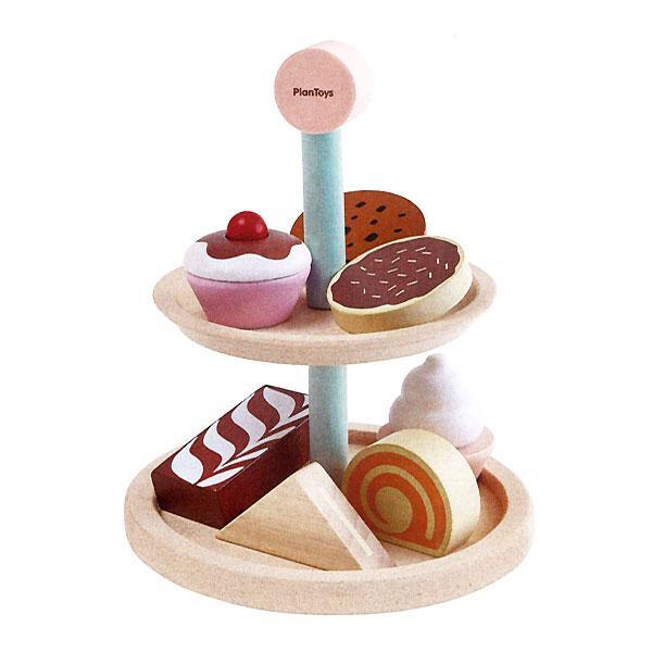 ベーカリースタンドセット 女の子 1歳 2歳 3歳 4歳 5歳 ままごと ごっこ遊びおもちゃ ままごと道具 セット  PLANTOYS (プラントイ) alukom 02