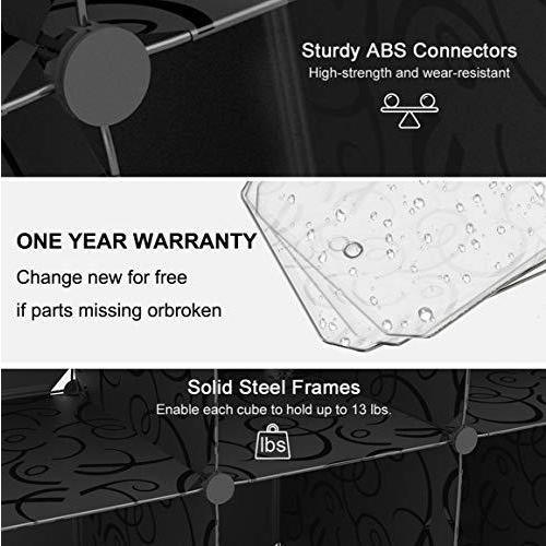 SIMPDIY 本棚 大容量 整理棚 ワイヤー収納ラック 組み立て式 衣類収納ボックス 便利な ワードローブ - 白(6ボッ? amade 09