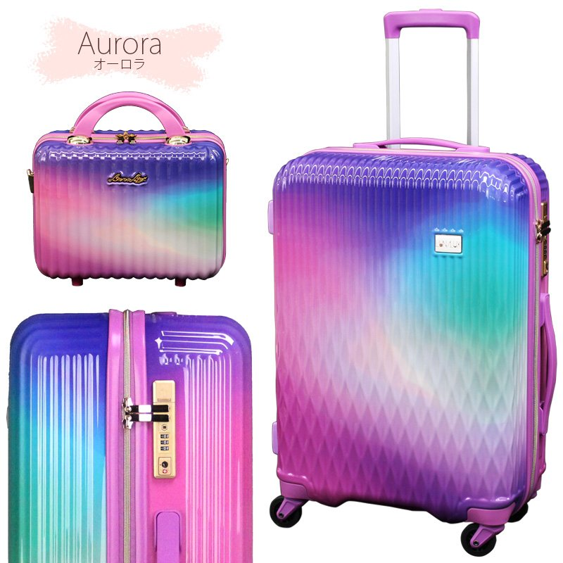 スーツケース Mサイズ キャリーバッグ キャリーケース ミニトランク付 レディース ショルダーバッグ 1年保証付 シフレ ルナルクス LUNALUX LUN2116 55cm|amakusakaban|17