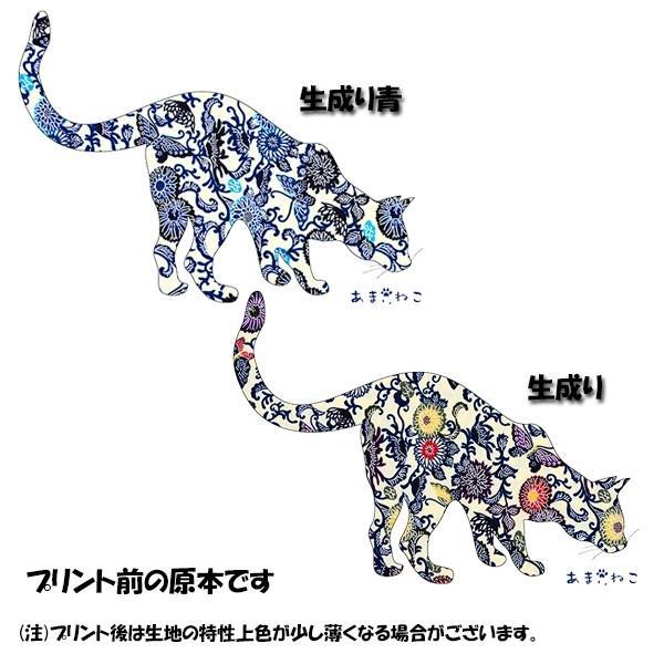 琉球紅型 猫トートバッグ Lサイズ 20リットル 大容量 沖縄 厚手 エコバッグ ショッピングバッグ 綿100% amaneko 09