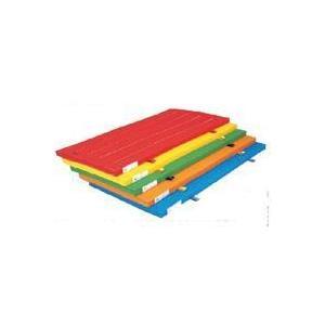 FLAP 仲條 エコカラー合成スポンジマットS レッド 120x600x6 FLP1576 体育 体操器具カラー体操マット再生PET ニューカラーSTマット 滑り止め有