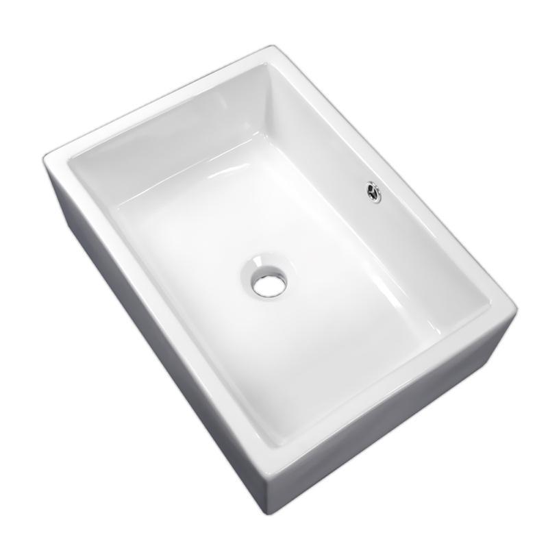 白陶器デザインおしゃれ角型ベッセル洗面器ボウル Ambest SL3420【激安】【送料無料】 ambestjpstore