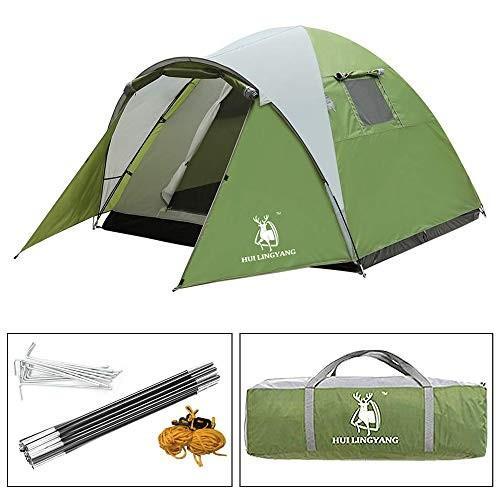 テント 前室付き 3−4人用 日よけ 防雨 キャンプテント 通気 大空間 メッシュ 軽量 コンパクト 収納袋付き 登山 キャンプ