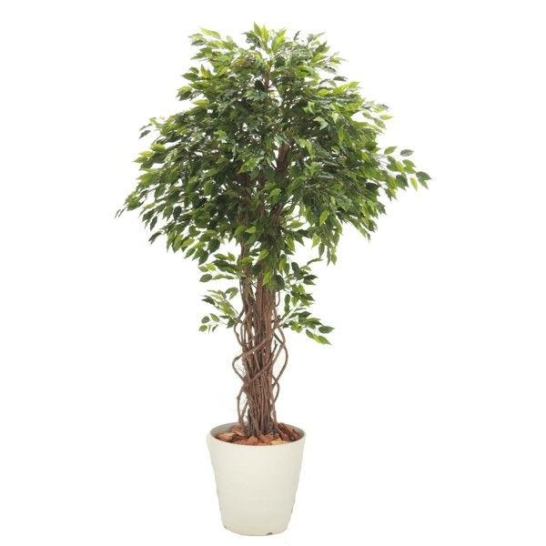 ベンジャミンリアナ 180cm (鉢植え 造花 観葉植物 室内 おしゃれ 大型 インテリア グリーン 植栽 装飾 1.8m)