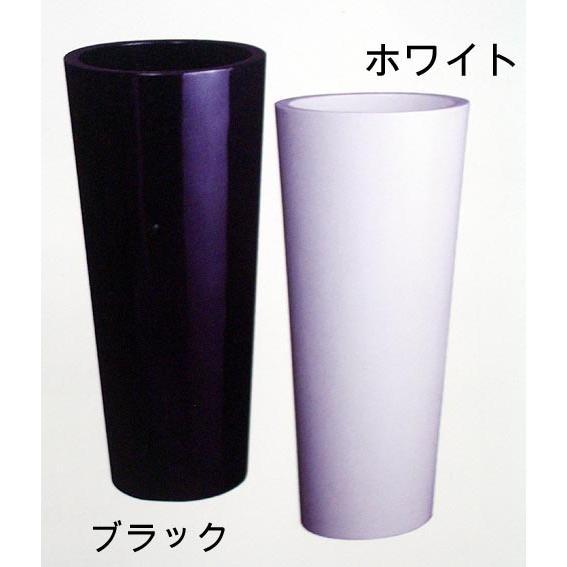 コラム 34型 (鉢/花器/ラウンド/プランター/ブラック/ホワイト)