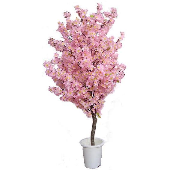 桜 180cm (人工観葉植物 造花 インテリア サクラ おしゃれ 室内 大型 鉢植え 樹木 装飾 植栽 さくら)