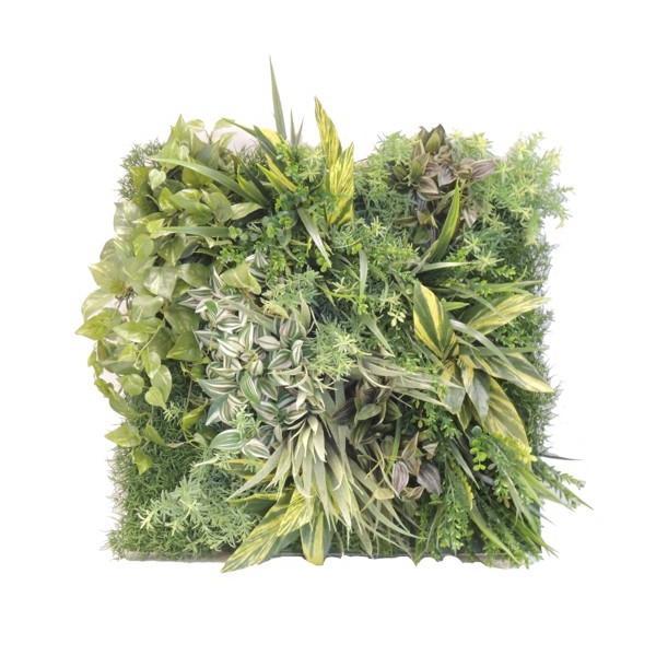 壁面造花装飾ディスプレイG (人工植物 アートフレーム アートフレーム グリーン)