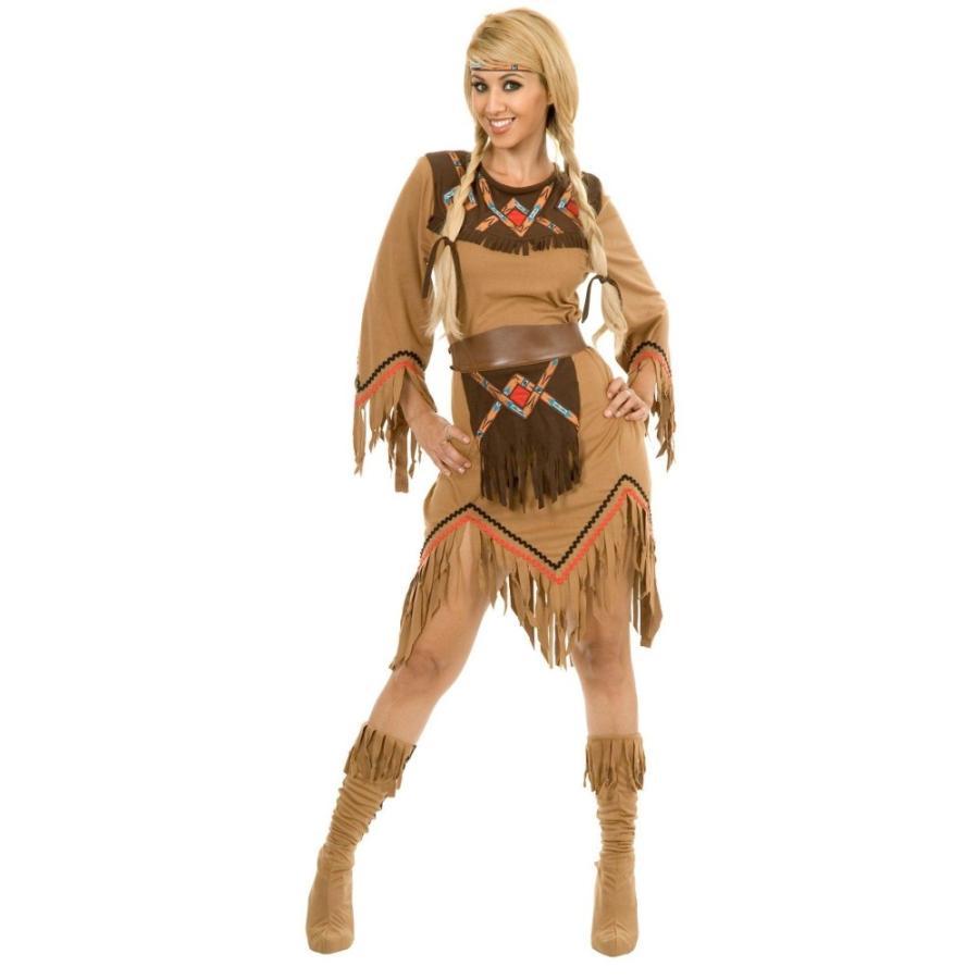 インディアン 衣装、コスチューム 大人女性用 Sacajawea Indian Maiden