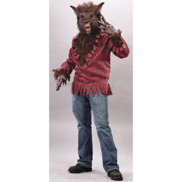 狼男 茶色 衣装 、コスチューム 大人男性用 ホラー