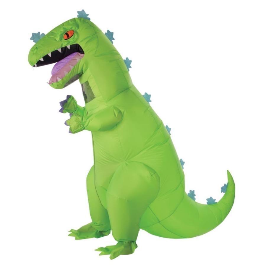 ラプトル 恐竜 衣装、コスチューム 大人男性用 着ぐるみ 空気で膨らむ INFLATABLE REPTAR ADULT
