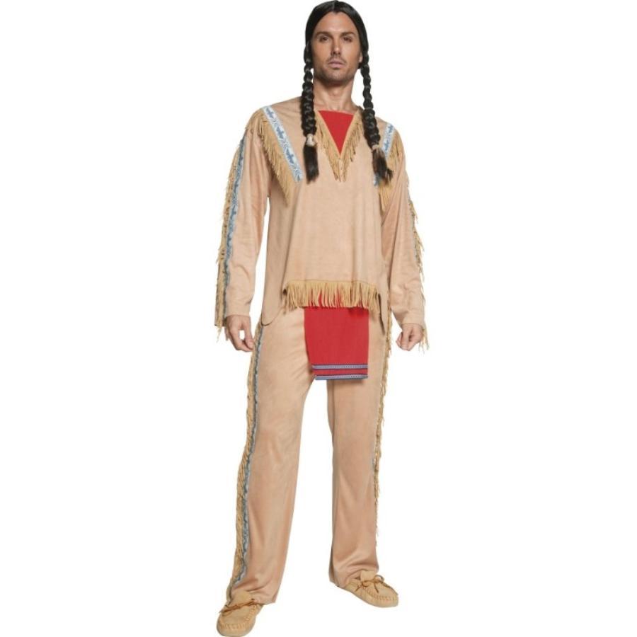 インディアン アメリカ原住民 衣装 コスチューム 大人男性用
