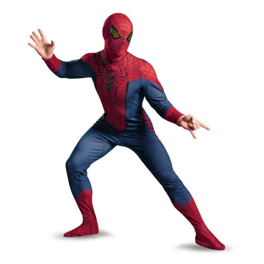 スパイダーマン 衣装、コスチューム デラックス 大人男性用 アメージング