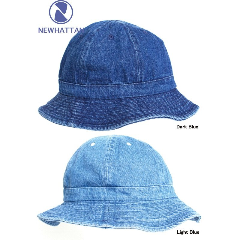 NEW DARKBLUE Denim HAT CAP . NEWHATTAN .