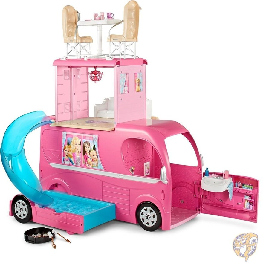 Barbie Pop-Up Camper Vehicle バービー人形 ポップアップキャンピングカー平行輸入品