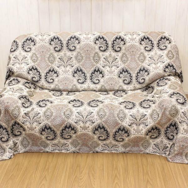 マルチカバー 約180×180cm シェニール織 ソファカバー ベッドベッドカバー コタツの上掛け クラシカル インテリア 手洗いOK