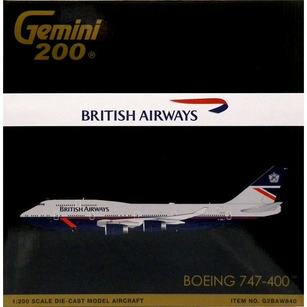 1/200 Gemini200 747-400 ブリティッシュエアウェイズ G-BNLY Landor livery[ジェミニ]《10月仮予約》