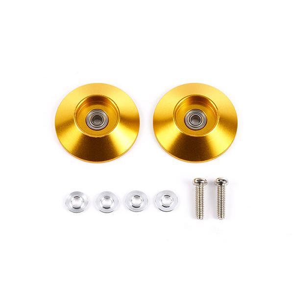 HG 19mm オールアルミベアリングローラー (テーパータイプ・ゴールド)[タミヤ]《発売済・在庫品》|amiami