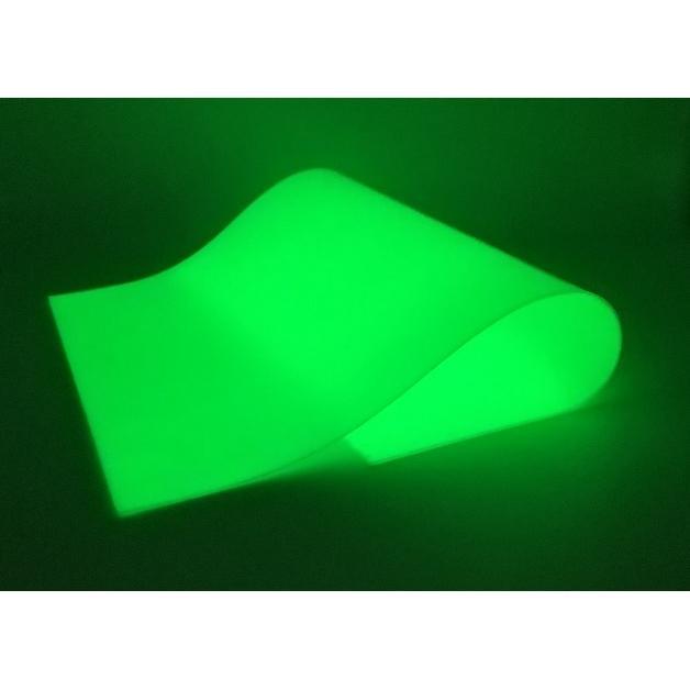 蓄光シート 厚み1.0mm A4サイズ 黄緑色発光 |amiel|02
