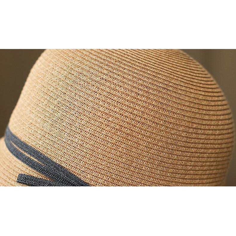 帽子 麦わら帽子 レディース UVカット UV つば広 日よけ 小顔 春夏 紫外線対策 折りたたみ おしゃれ UV対策 暑さ対策 日焼け対策 運動会 旅行 母の日 帽子屋 amistad-2 10