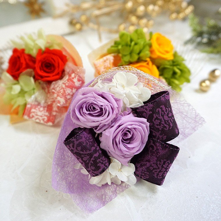 還暦祝い 古希 喜寿  プレゼント 2020 花 古希のお祝い 喜寿のお祝い 傘寿のお祝い 米寿のお祝い  プリザーブドフラワー 祖母  ふくろうのお祝い(花束付)|ampoule-shop|05