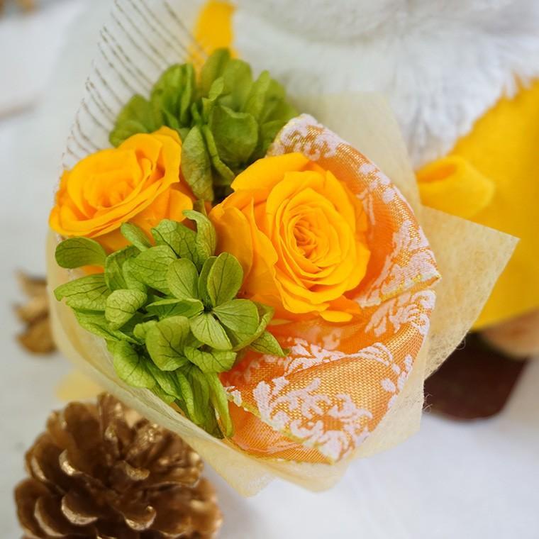 還暦祝い 古希 喜寿  プレゼント 2020 花 古希のお祝い 喜寿のお祝い 傘寿のお祝い 米寿のお祝い  プリザーブドフラワー 祖母  ふくろうのお祝い(花束付)|ampoule-shop|06