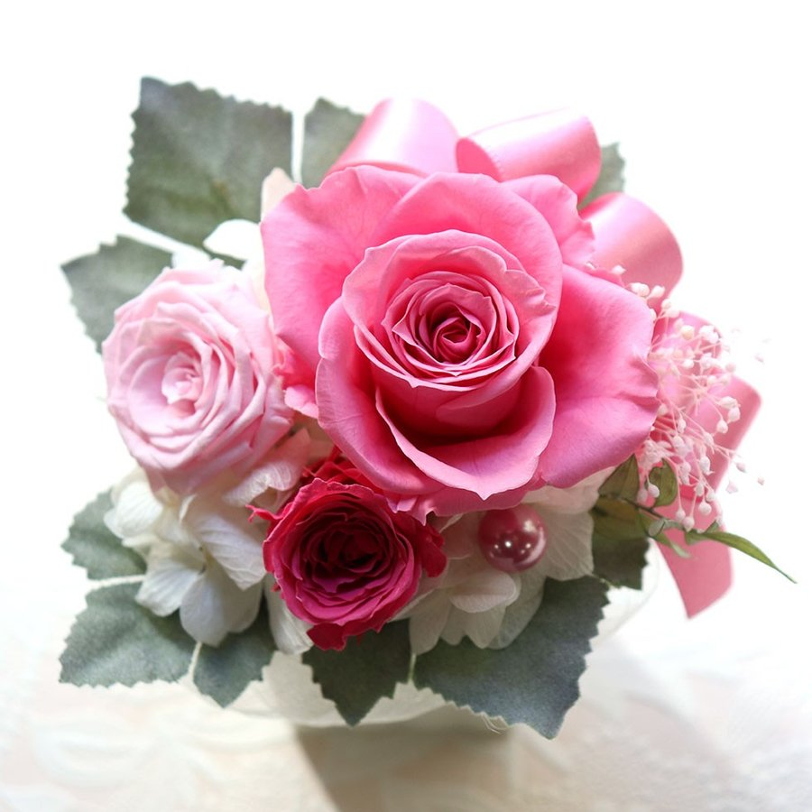 プリザーブドフラワー プレゼント   母の日  2021  花 誕生日プレゼント  女性  退職祝い 結婚祝い 結婚式 電報  初めてのプリザ|ampoule-shop|07