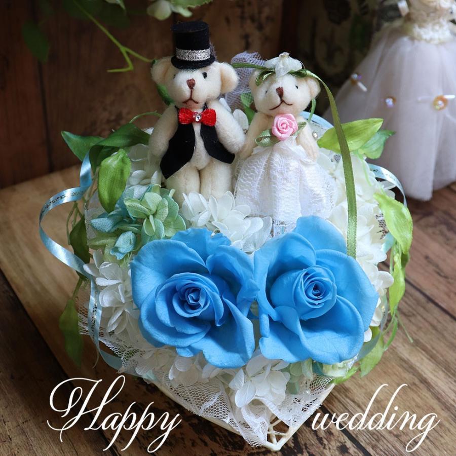 結婚式 電報 祝電 結婚祝い ギフト プレゼント 贈り物 おしゃれ プリザーブドフラワー ギフト お祝い 花 ぬいぐるみ くま ハートのキャンディローズ|ampoule-shop|15