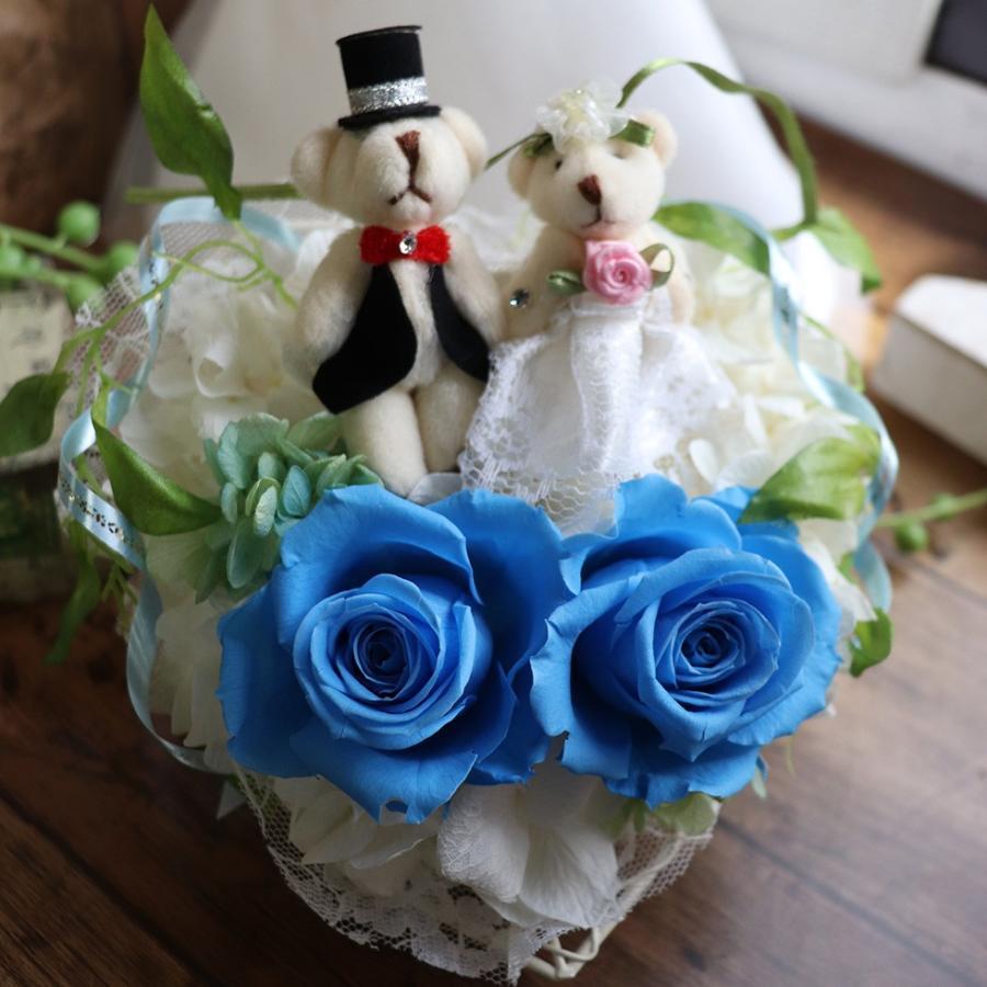結婚式 電報 祝電 結婚祝い ギフト プレゼント 贈り物 おしゃれ プリザーブドフラワー ギフト お祝い 花 ぬいぐるみ くま ハートのキャンディローズ|ampoule-shop|17