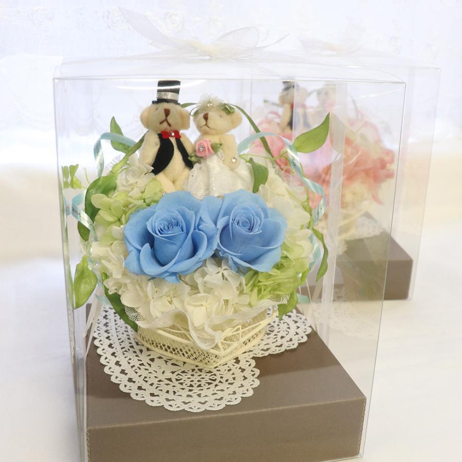 結婚式 電報 祝電 結婚祝い ギフト プレゼント 贈り物 おしゃれ プリザーブドフラワー ギフト お祝い 花 ぬいぐるみ くま ハートのキャンディローズ|ampoule-shop|08