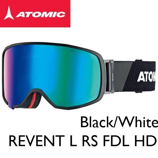 ATOMIC アトミック REVENT L RS FDL HD 黒/白い スキー ゴーグル スノボ スノーボード メンズ レディス