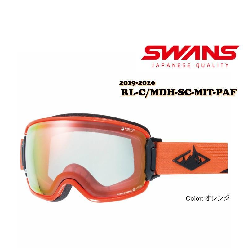SWANS 2019/2020 RIDGELINE-C/MDH-SC-MIT-PAF スワンズ オレンジ ゴーグル スキー スノボ スノーボード