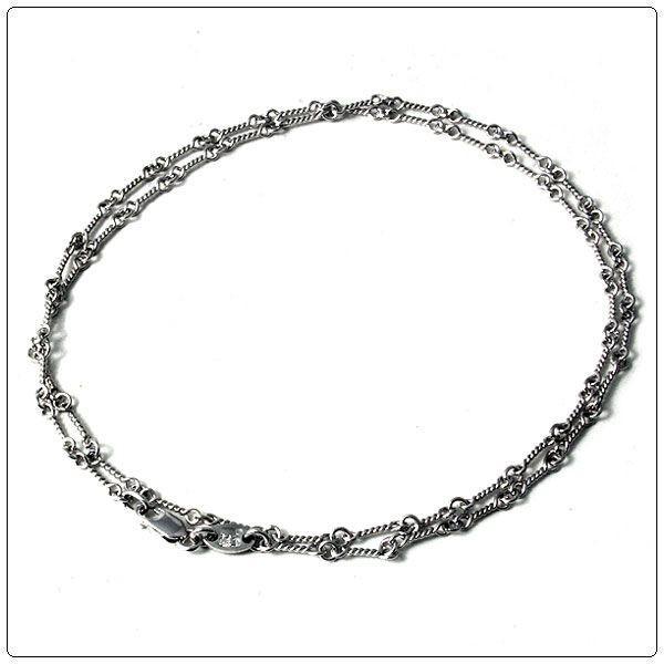 【在庫一掃】 クロムハーツ(Chrome Hearts)ネックレス・チェーン・18Kホワイトゴールドツイスト20インチ(約50cm), ササクラスポーツ 5a8673eb