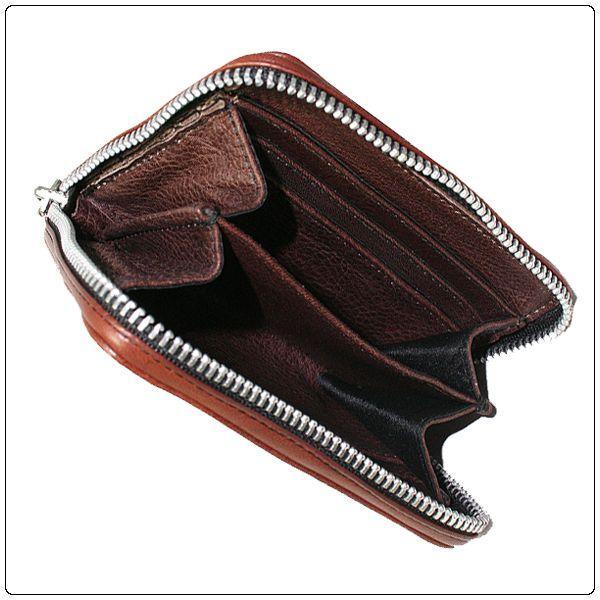 【クーポン獲得で5%OFF開催中!】クロムハーツ 財布(Chrome Hearts)3サイドジップ ブラウン ミディアムレザー ams-la 03