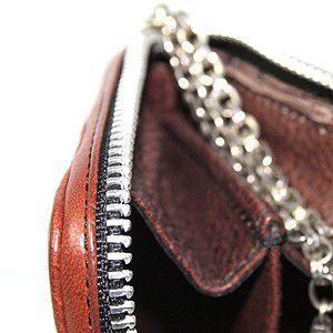 【クーポン獲得で5%OFF開催中!】クロムハーツ 財布(Chrome Hearts)3サイドジップ ブラウン ミディアムレザー ams-la 06