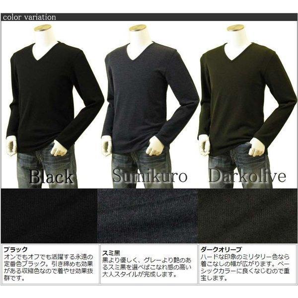 メンズ Vネックニット キャッシュウール100%セーター 日本製 イタリア糸 送料無料 トップス amu 02