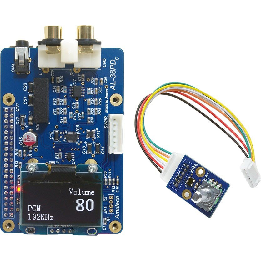 Amulech  AL-38PD   Raspberry Pi専用のハイエンドDAC ES9038Q2M搭載 DSD5.6MHz対応 PCM384KHz対応|amulech-store