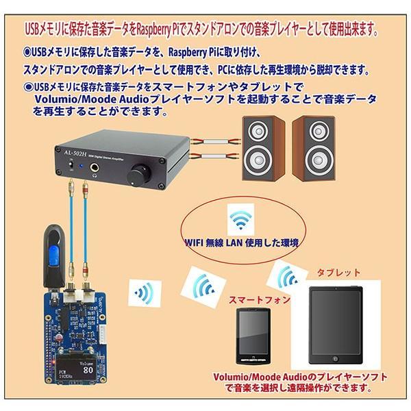 Amulech  AL-38PD   Raspberry Pi専用のハイエンドDAC ES9038Q2M搭載 DSD5.6MHz対応 PCM384KHz対応|amulech-store|07